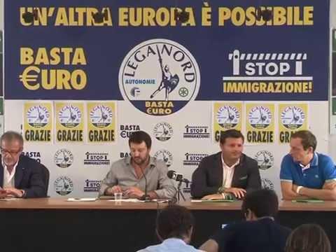 CONFERENZA STAMPA 08 09 2014 MILANO - MATTEO SALVINI