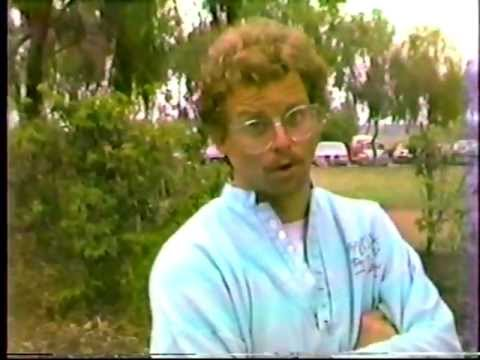 """Crazy"" John Brooks Commentator 1984 Disc Golf HB Ca"