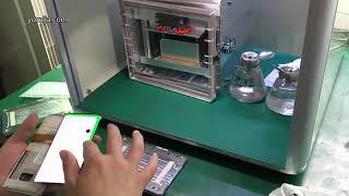 How to operating YMJ Machine SamSung S8 lcd repair & vacuum laminating process