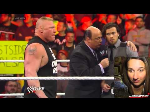 WWE Raw 1/27/14 Brock Lesnar. Dave Batista. and Randy Orton in the RING