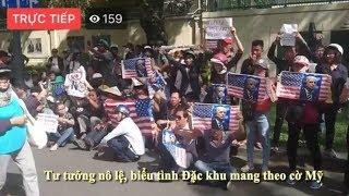 Tại sao biểu tình đặc khu các bạn lại giương cao cờ Mỹ? (Bằng Nguyễn 17 )