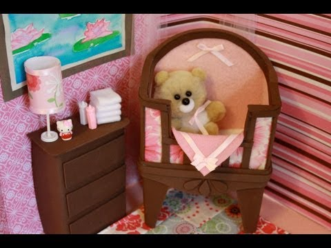 How to Make a Doll Baby Crib with  Bonus Easter Project