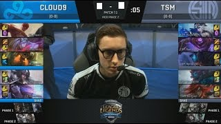 C9 (Contractz Lee Sin) VS TSM (Bjergsen Katarina) Game 2 Highlights - 2017 NA LCS Spring W1D1