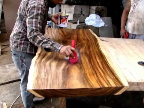 Suar Life Edge Wood Coffee Table Youtube