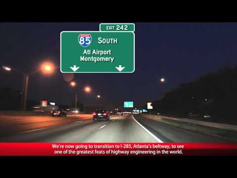 This video is a co-production between Freewayjim (youtube.com/freewayjim) and myself and features the Atlanta skyline from three different angles along some of the widest, busiest freeways...