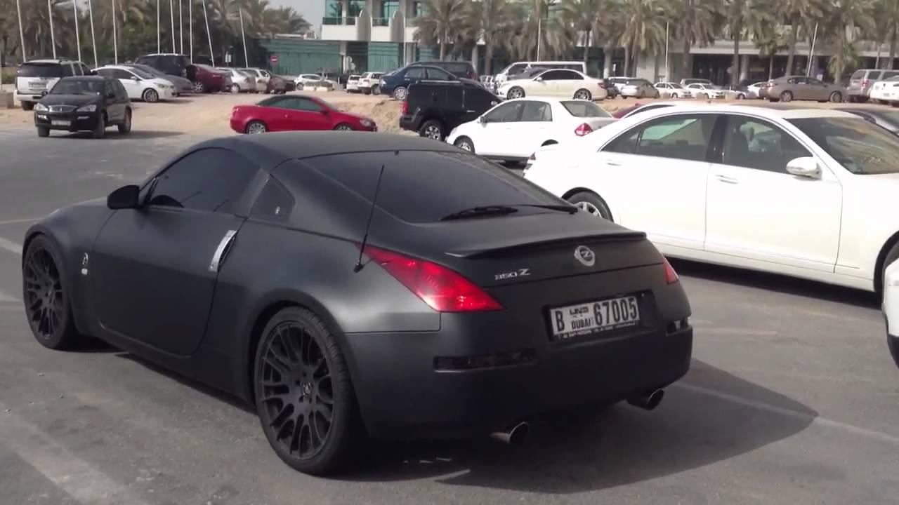 Matte Black Nissan 350z Dubai Marina Youtube
