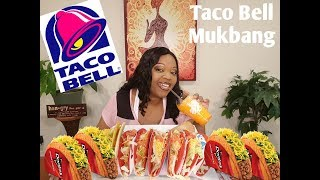 Taco Bell Mukbang (eating show) Doritos Locos Fiery Tacos