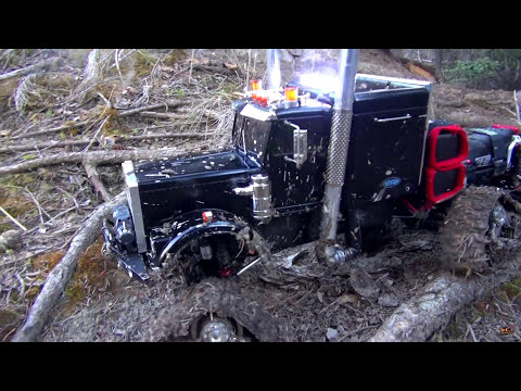 RC ADVENTURES - Muddy Tracked Semi-Truck 6X6 HD OVERKiLL & 4X4