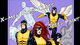 X Men First Class Marvel Comics Speed Paint