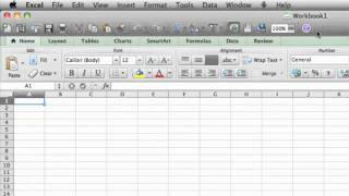 Lesson 2 - Explore the Excel 2011 user interface