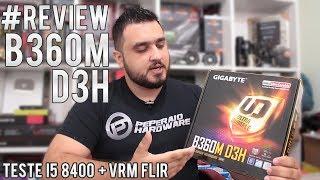 Review placa-mãe GIGABYTE B360M-D3H / Testes I5 8400 / Análise de VRM & Temperatura com FLIR