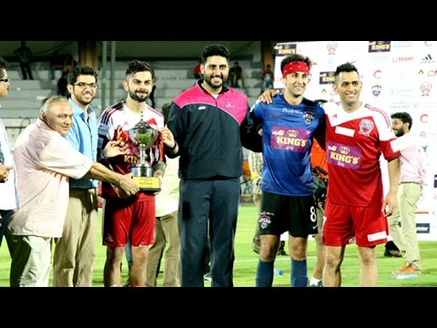 Cricketers Vs Bollywood Stars Winner of Charity Football Match 2016   Kohli,Dhoni,Abhishekh,Ranbir