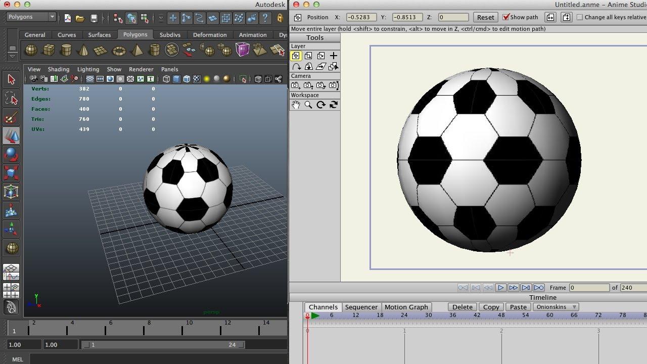 Импорт 3d объектов ( obj ) в Anime Studio Pro / 3d модель сделана в Autodesk Maya 2013