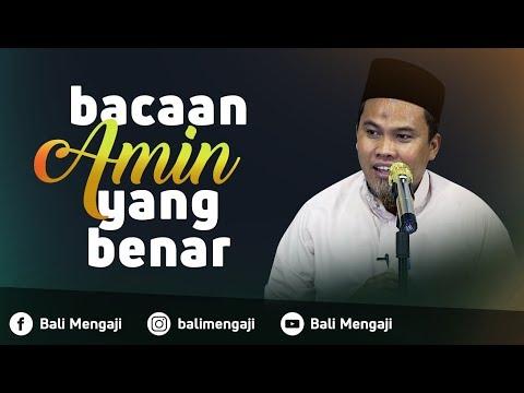 "Video Singkat: Bacaan ""Amin"" Yang Benar Dalam Sholat - Ustadz Kholiful Hadi"