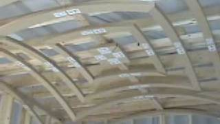 How to install a groin vault ceiling