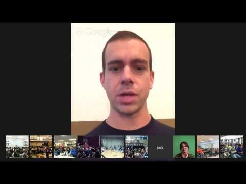 Jack Dorsey chats with students