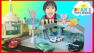 Ryan plays with Disney Cars Toys Precision Series Flo