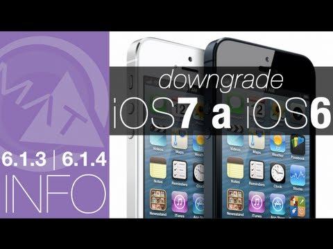 Downgrade   iOS 7 a iOS 6 (6.1.3   6.1.4) Español #mramigotec