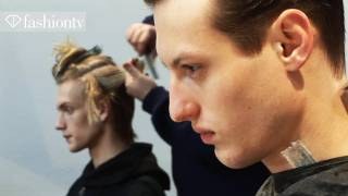 male models backstage at costume national men fall 2012   milan mens fashion week fashiontv   ftv