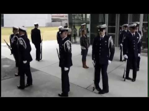 Coast Guard Ceremonial Honor Guard performs at National WWII Museum