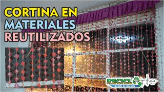 DIY♻CORTINA EN MATERIALES RECICLADOS