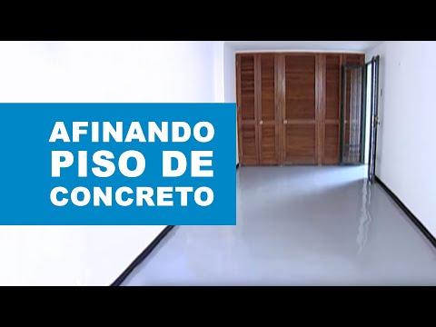 C mo afinar un piso de concreto youtube - Como alquilar un piso ...