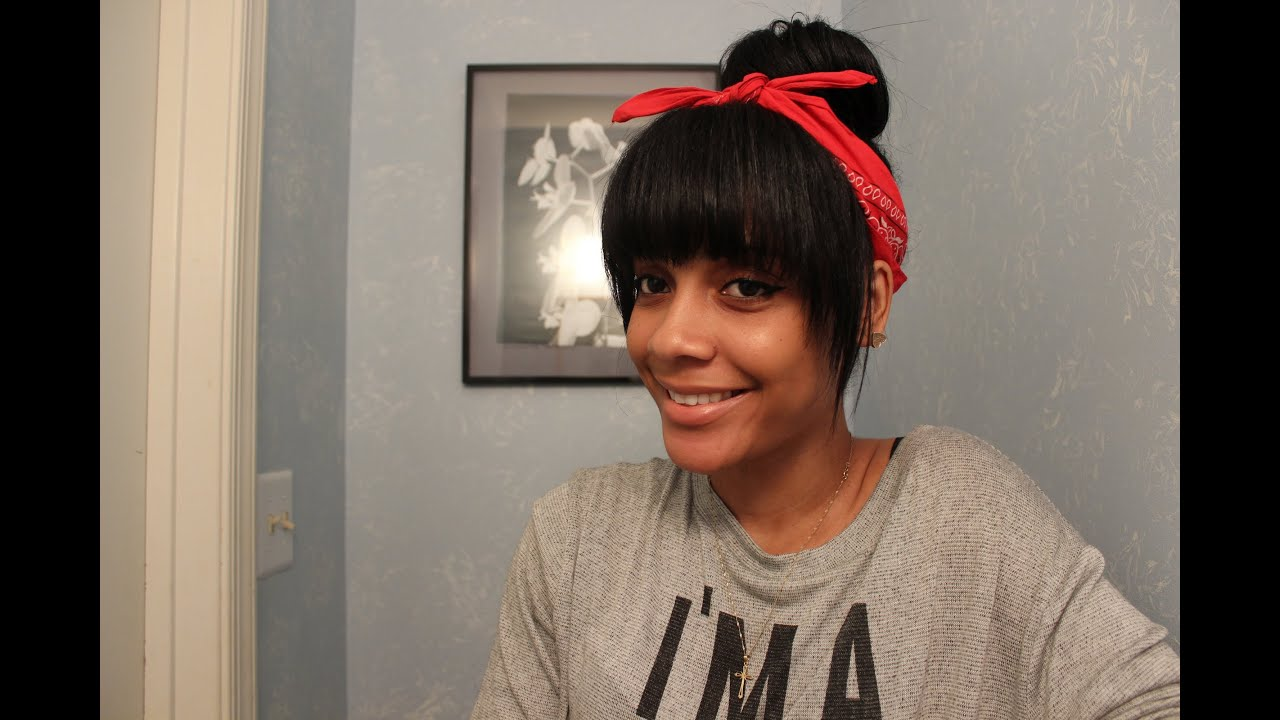 Pictures of bangs with a bun