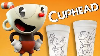 Drawing Cuphead IN REAL LIFE (on *actual* cups)!