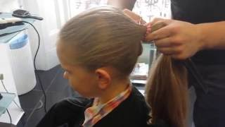 Maisy cut her hair to raise money for breast cancer