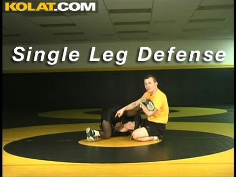Single Leg Defense KOLAT.COM Wrestling Moves Techniques Instruction Image 1