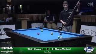 2015 Junior 9-Ball Challenge: Ricky Evans vs Shane Wolford (Semi-Final)