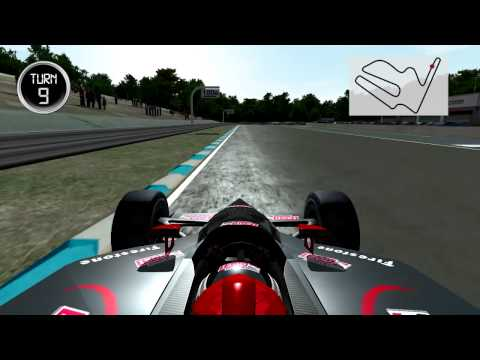 Virtual lap of Twin Ring Motegi