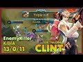 Real Burst Critical Damage Ranked 1 Global Clint by EnemyKiller ~ Mobile Legends