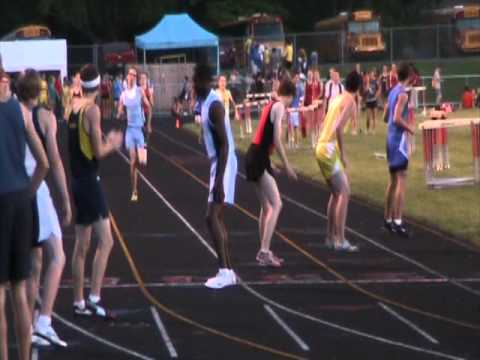 Lansing Catholic High School 2010 Track team 4x400 relay at Regional Finals