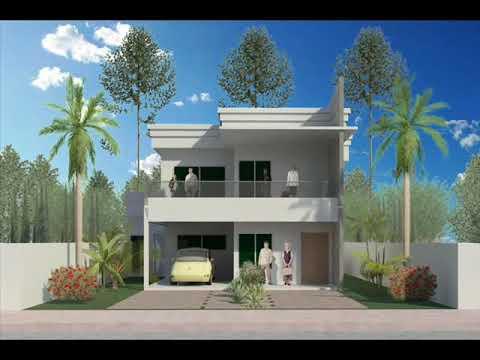 Arquitetura projeto residencial de 2 pavimentos parte for Casa moderna 2 andares 3 quartos