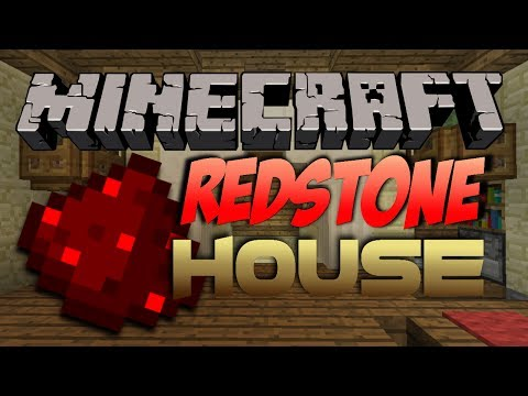 Awesome Minecraft REDSTONE House! WORKING ELEVATOR! MULTI FLOORS