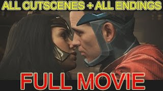Injustice 2 all cutscenes JUSTICE LEAGUE FULL MOVIE 2017 + ALL Endings Walkthrough Part 1 PS4 PRO