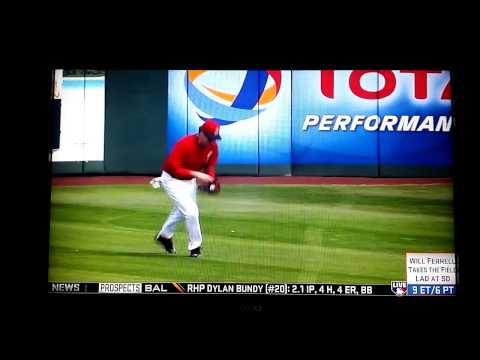 Will Ferrell takes Mike Trout's job