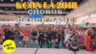 [KCON 2018] 40 Kpop Dances in 30 Minutes (Chorus Dance Game)