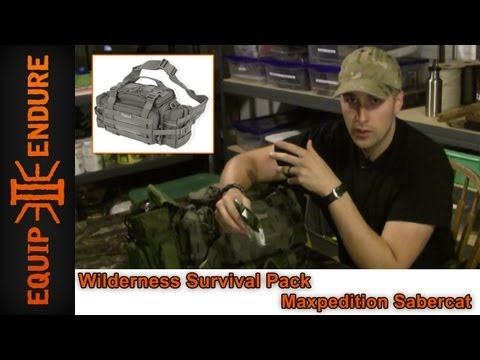 Wilderness Survival Kit. Maxpedition Sabercat. Equip 2 Endure