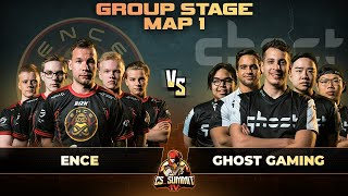 ENCE vs Ghost, Map 1 Mirage - cs_summit 4: Group Stage