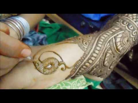 How To Make Foot Henna Mehndi Design-Indian Pakistani Bridal Mehendi Body Art Tutorial