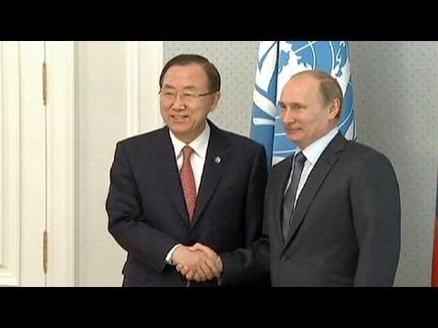 Ban Ki-Moon le pide a Putin que agilice la conferencia sobre Siria