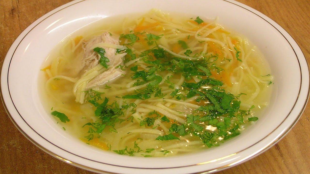 Суп лапша куриная домашняя