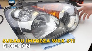 Subaru Impreza WRX Sti Bi xenon projector installation video