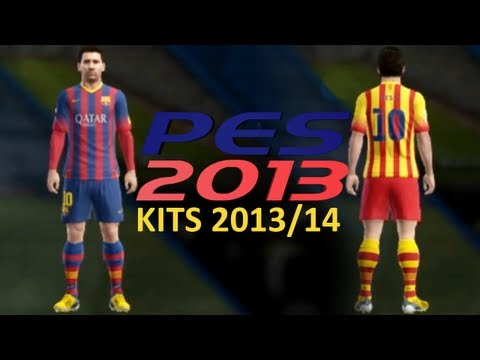 PES 2013 • New kits FC Barcelona 2013-2014 • HD • Download Link