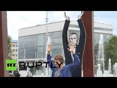 Switzerland: Watch Putin props up peace in Geneva anti-war stunt