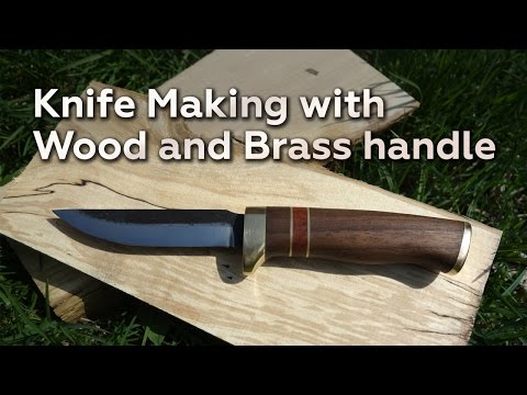 Knife Making With Wood And Brass Handle video