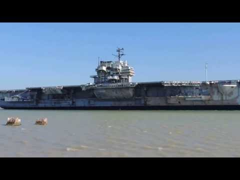 USS Forrestal CV-59 Arrives Brownsville, TX Feb. 18, 2014