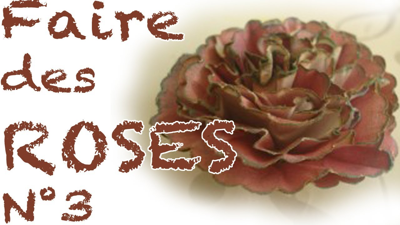 Comment faire des roses en papier n 3 youtube - Comment faire secher des roses ...